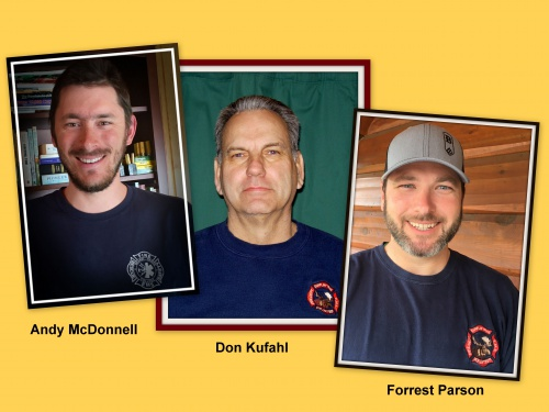 Andy McDonnell, Don Kufahl, and Forrest Parson